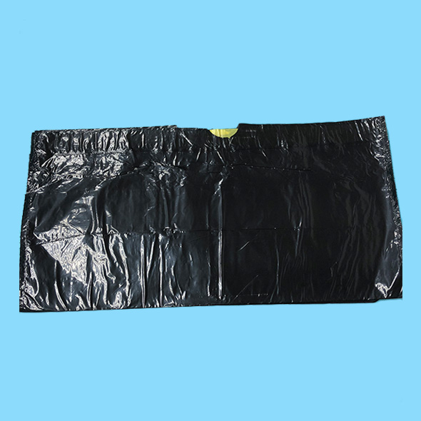 Black Durable drawstring garbage bag