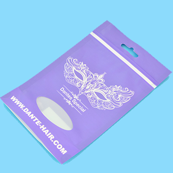 Custom printed plastic zipper pouches with clear window