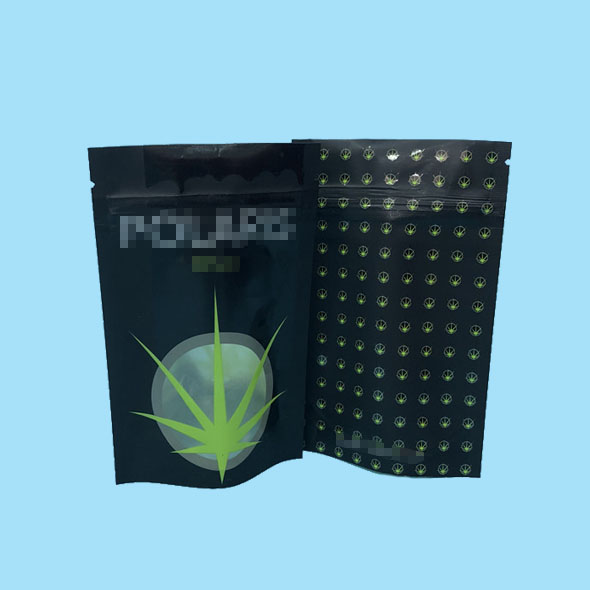 Mylar ziplock storage bags for tobacco packaging