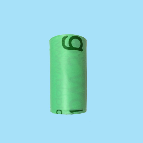 Green biodegradable dog waste collection bags