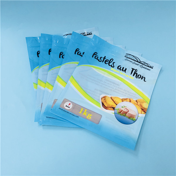 Customized PA/PE Zipper Top Food Service Bags For 1kg Beef Jerky