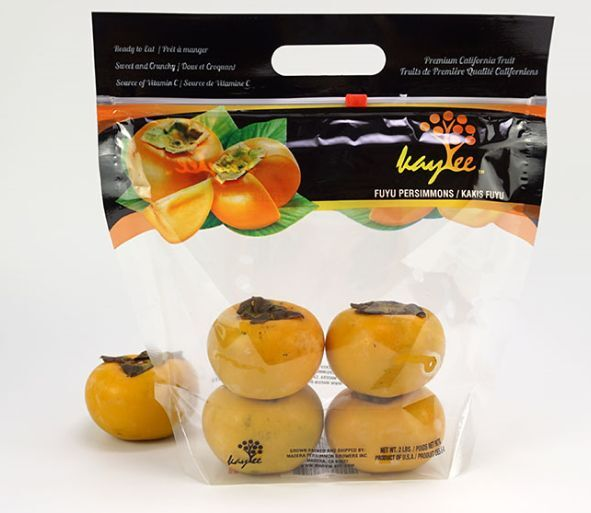 Zip slider handle fresh fruit packaging bags for apple agrape