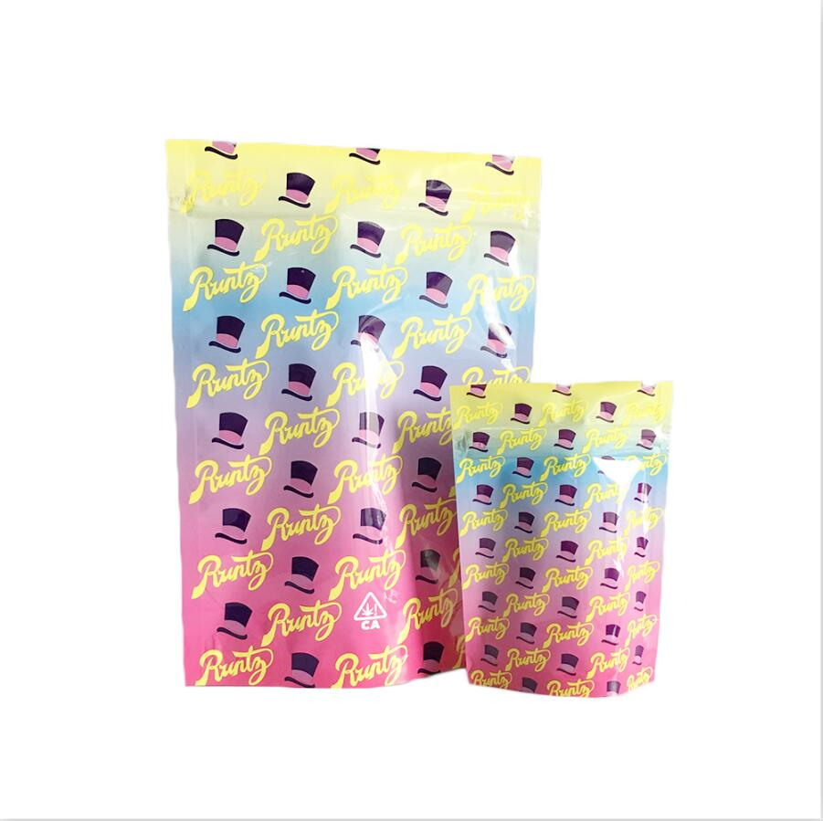 Custom Printed Plastic Zipper Tobacco Pouch Bags