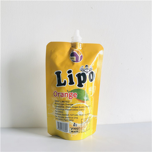 Spouted pouches for beverage liquid packaging