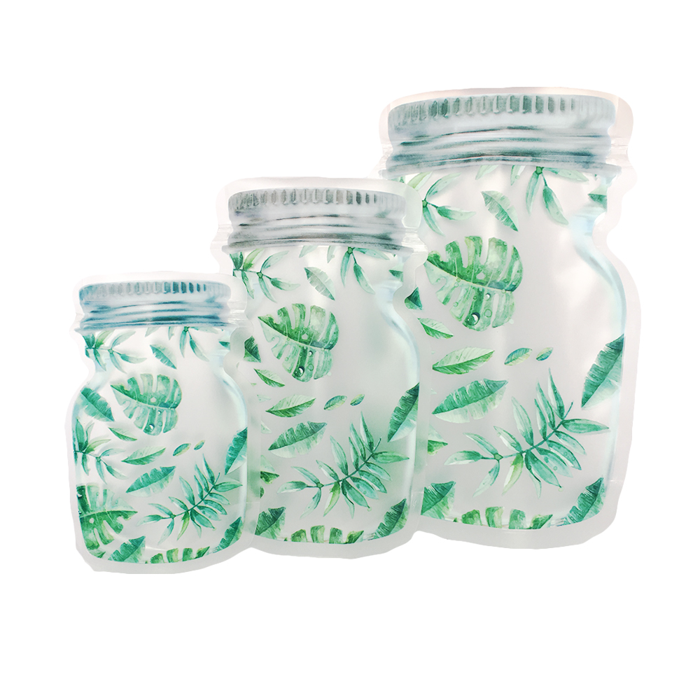Frosted & Clear Zippered Mason Jars Bags
