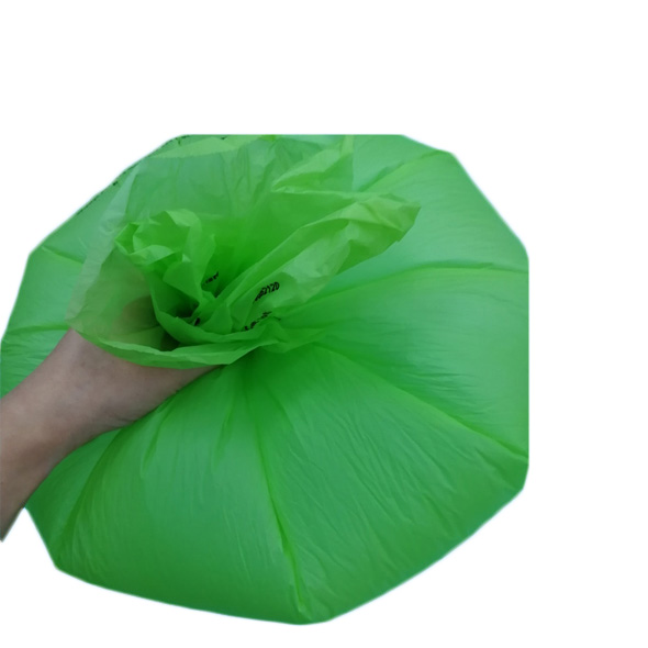 Star sealed green alternative biodegradable trash bin bags